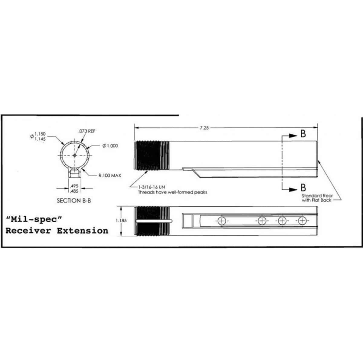 6 Position Buffer Tube Kit Mil-spec