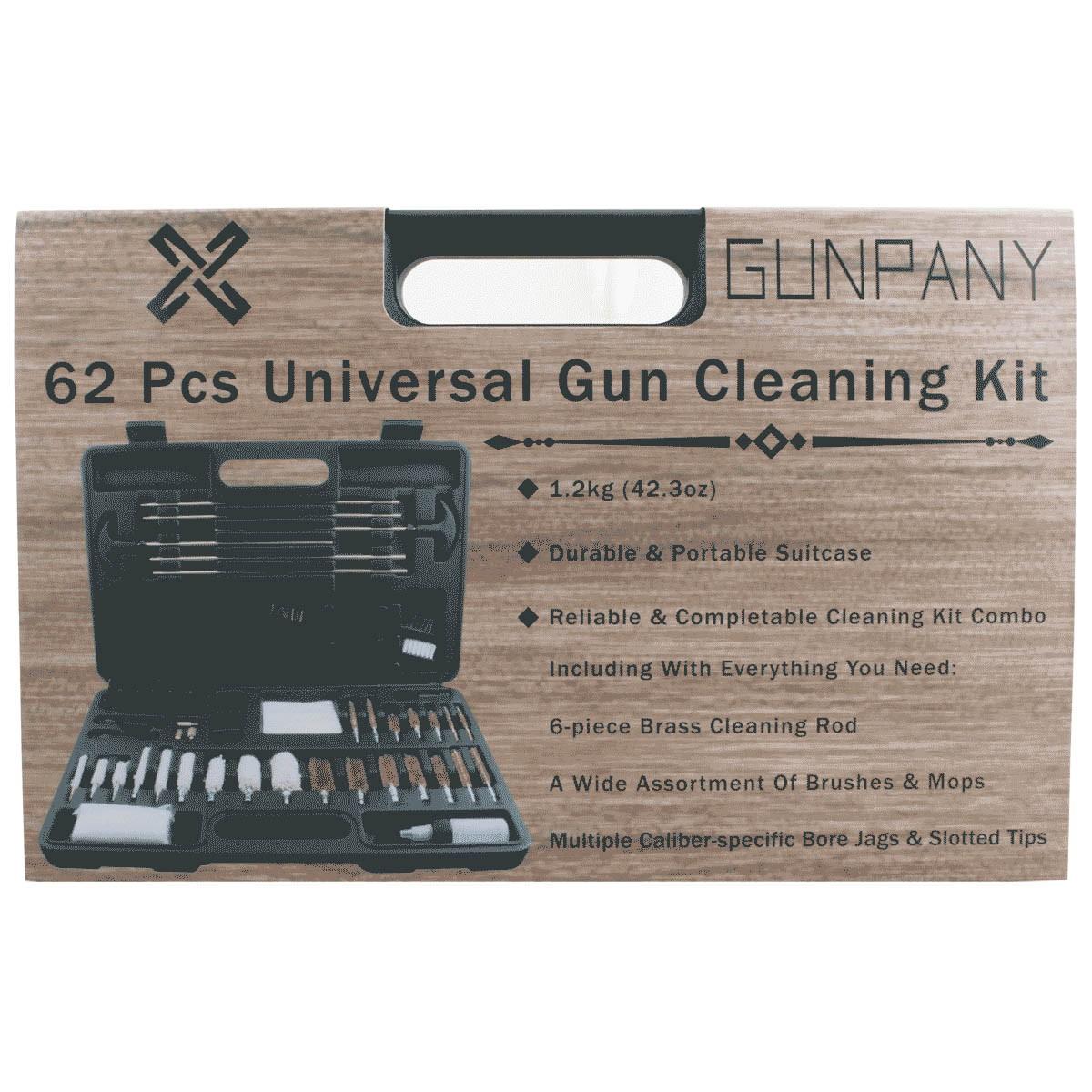 Gunpany 62 Pcs Universal Gun Cleaning Kit