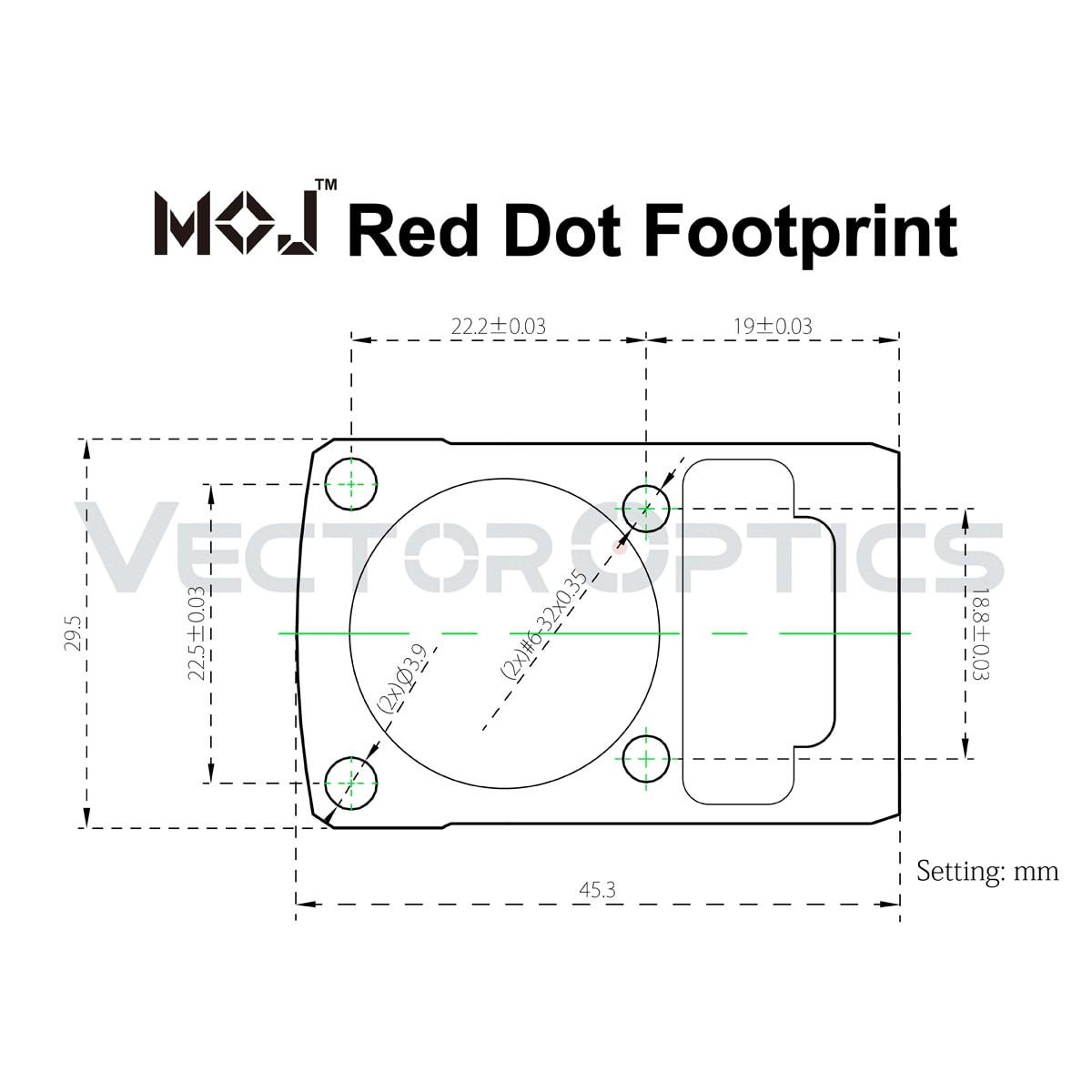 MOJ Red Dot Sight Cantilever Picatinny Riser Mount