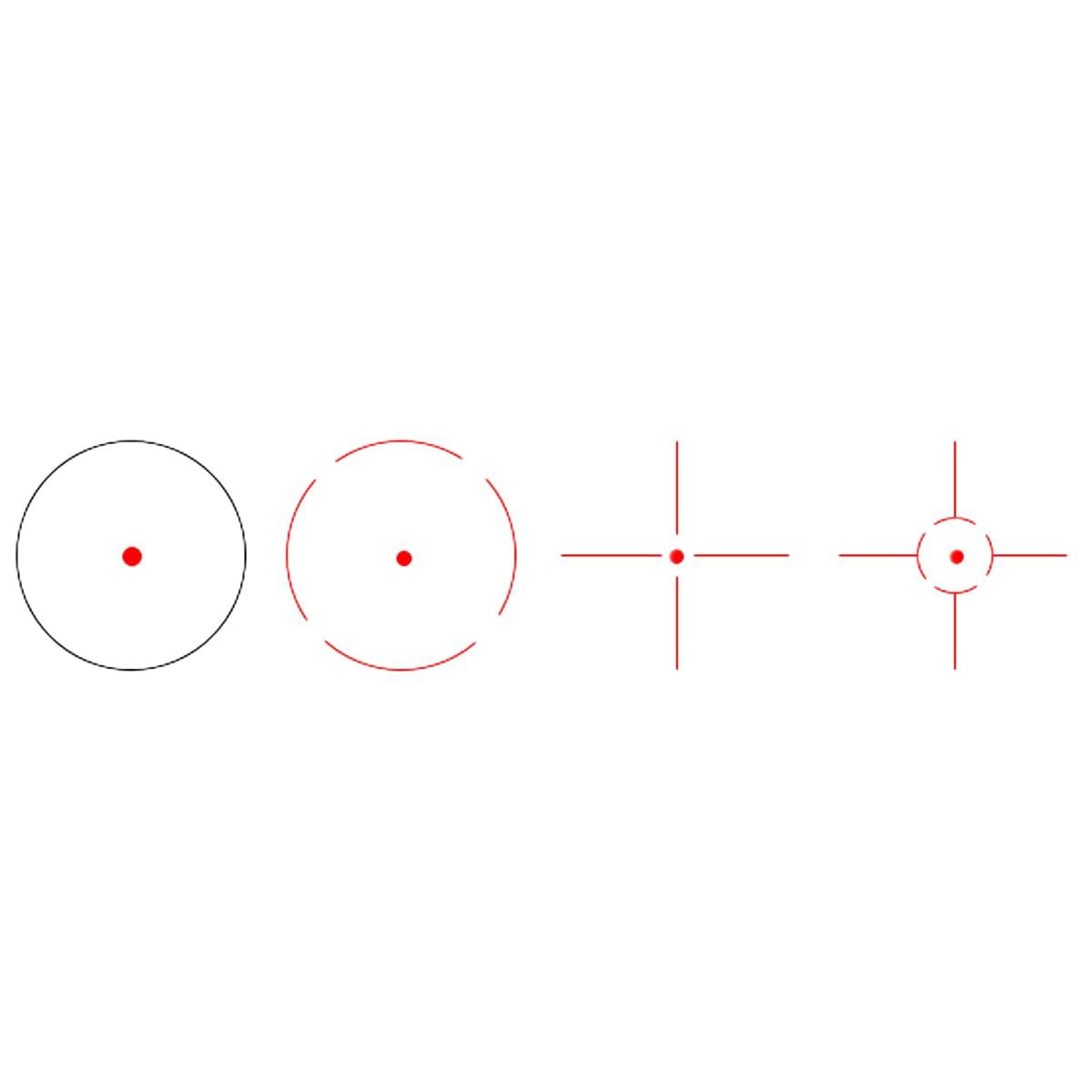 VictOptics 1x23x34 Red Dot Sight Red Finish Detail dot sight