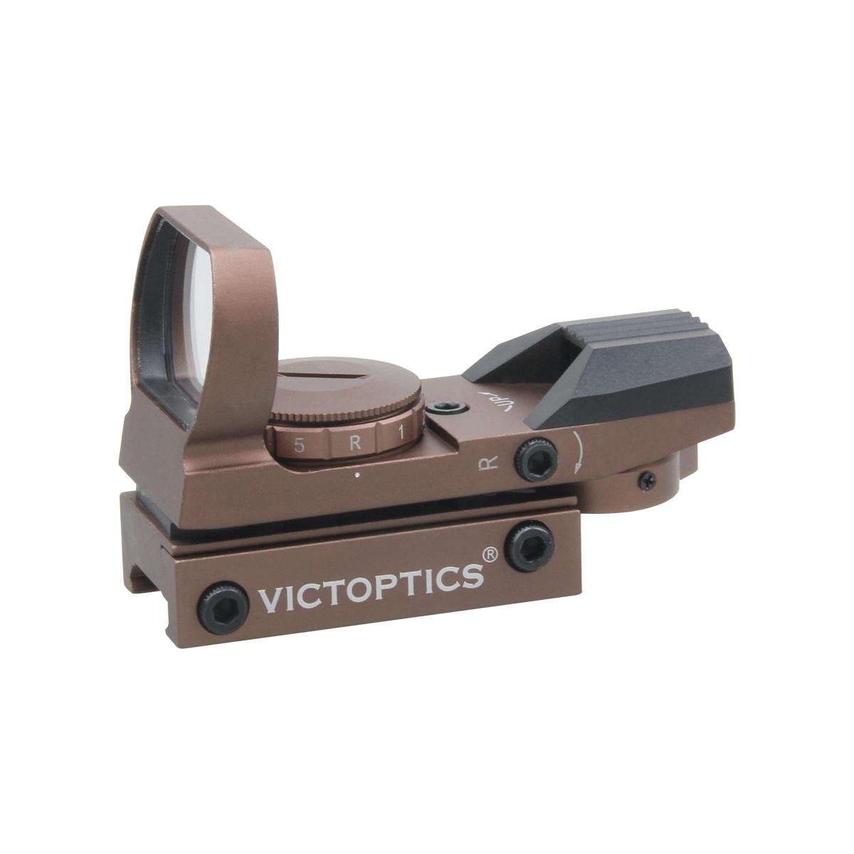 VictOptics 1x23x34 Red Dot Sight Coyote FDE