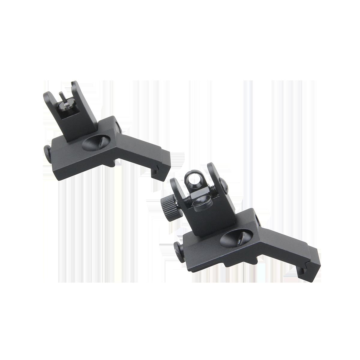 45° Offset Backup Flip-up Iron Sights BUIS
