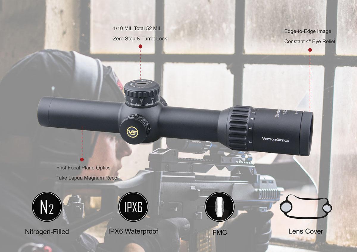 VO 34mm Continental 1-6x28FFP Acom Diagram 1