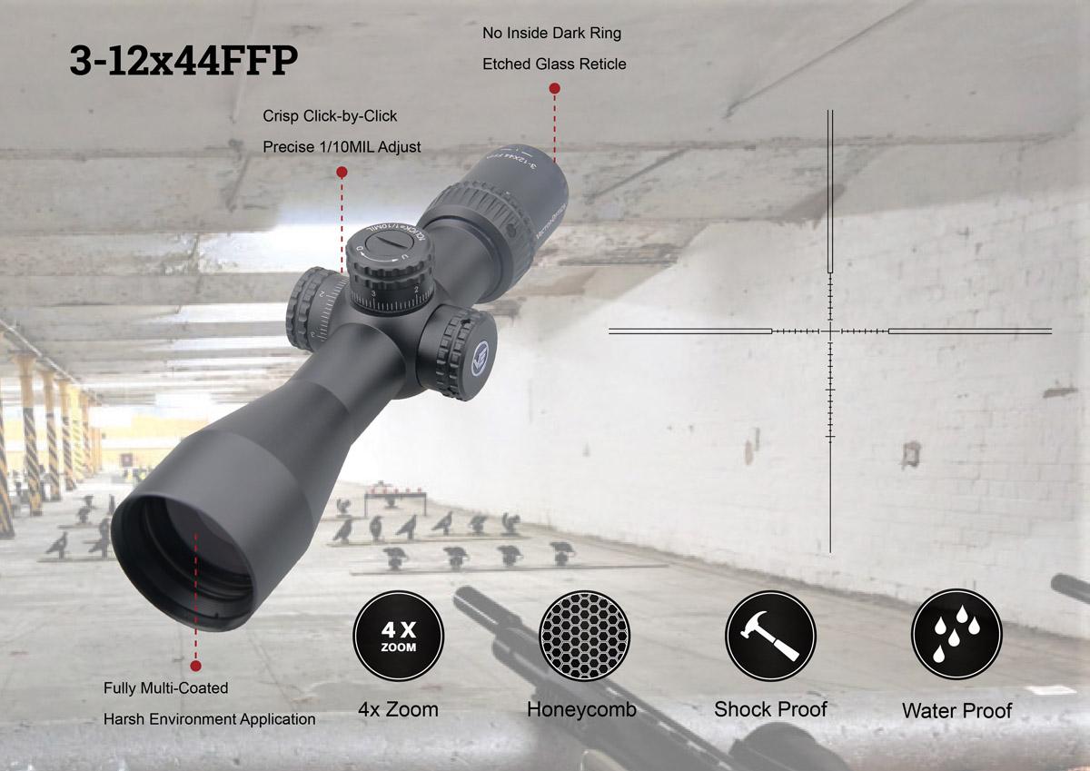 Veyron 6-24x44 FFP Riflescope Illuminated applicaton