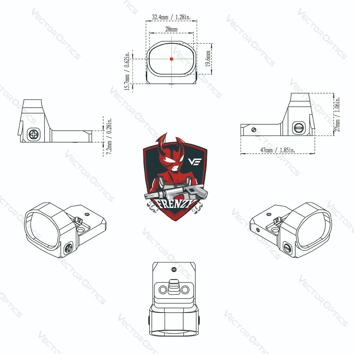 1x20x28 Acom CAD Diagram