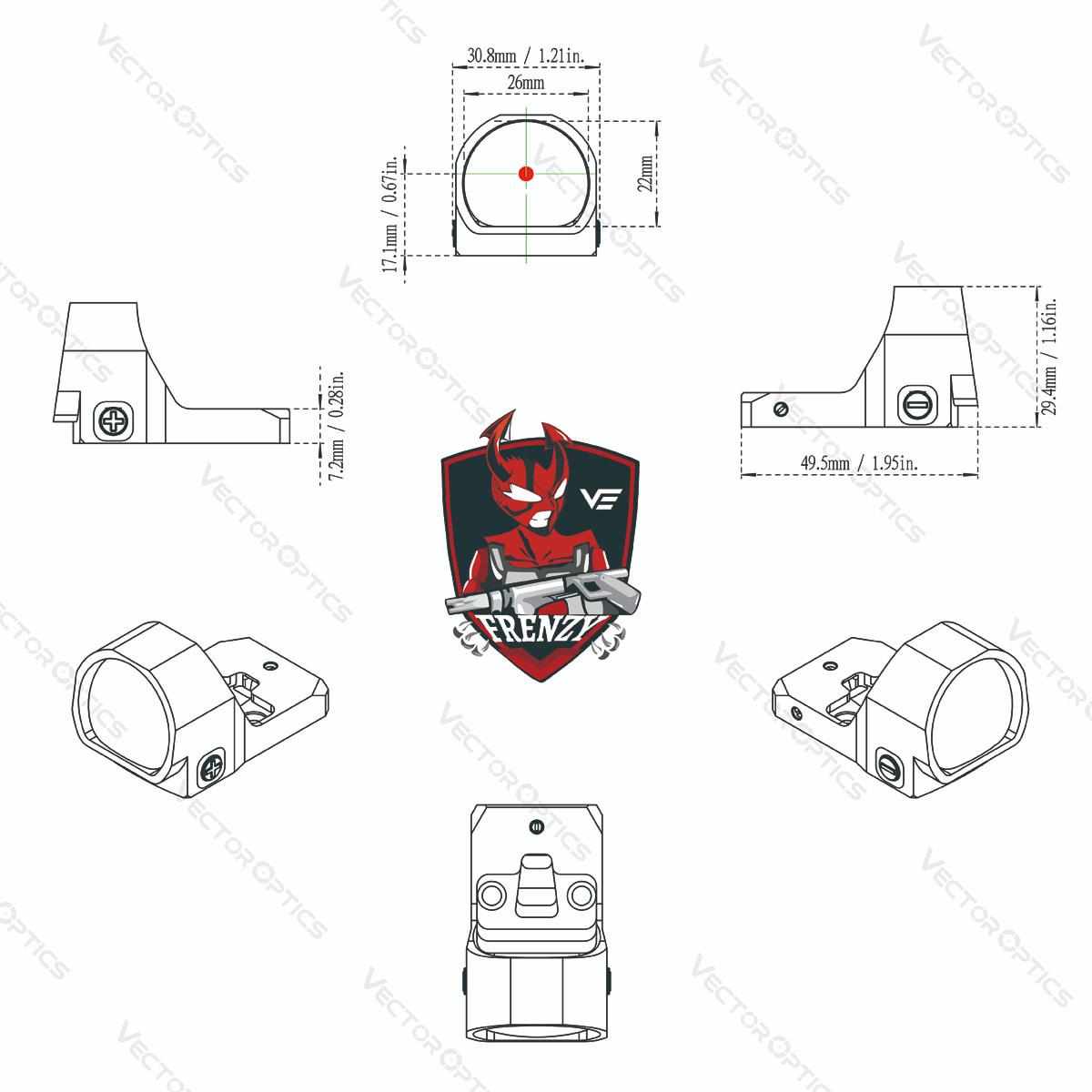 1x22x26 Acom CAD Diagram